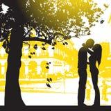 Paar in stadspark Stock Fotografie