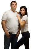 Paar - sterke man en vrouw royalty-vrije stock afbeelding