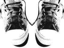 Paar tennisschoenen royalty-vrije illustratie