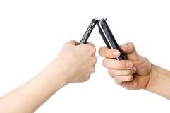 Paar Texting Stock Foto's