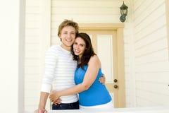 Paar thuis royalty-vrije stock foto