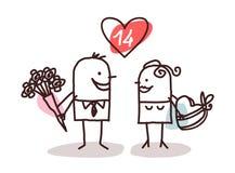 Paar- und Valentinsgrußgeschenke Stockfotografie