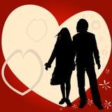 Paar, valentijnskaartontwerp Stock Afbeelding