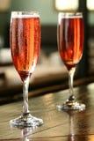 Paar van champagne Royalty-vrije Stock Foto's