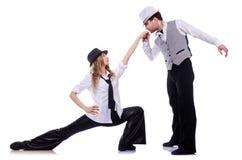 Paar van dansers het dansen Stock Fotografie