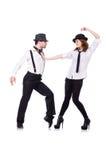 Paar van dansers het dansen Royalty-vrije Stock Foto