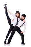Paar van dansers het dansen Stock Afbeelding