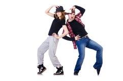 Paar van dansers het dansen Stock Afbeeldingen