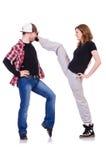 Paar van dansers het dansen Royalty-vrije Stock Foto's