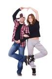 Paar van dansers het dansen Royalty-vrije Stock Fotografie
