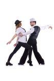 Paar van dansers het dansen Stock Foto