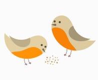 Paar van de vogels van Robin stock illustratie