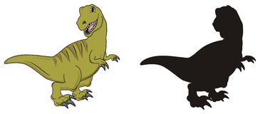 Paar van dinosaurussen Stock Foto's