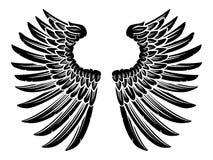 Paar van Eagle Bird of Angel Wings Stock Afbeelding