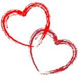 Paar van harten. vector illustratie