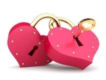 Paar van harten Royalty-vrije Illustratie