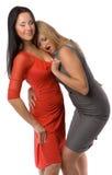 Paar van hete dames Stock Afbeelding