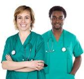 Paar van jonge artsen Royalty-vrije Stock Foto's
