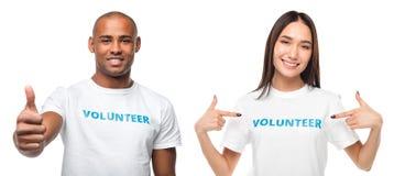 Paar van jonge vrijwilligers royalty-vrije stock foto