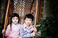Paar van kinderen Stock Fotografie