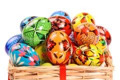 Paar van kleurrijke Paaseieren Stock Foto