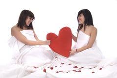 Paar van lesbische vrouw in liefde Stock Foto