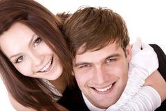 Paar van meisje en de mens. Liefde. Royalty-vrije Stock Afbeelding