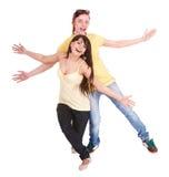 Paar van mens en meisjes het dansen. Royalty-vrije Stock Foto's