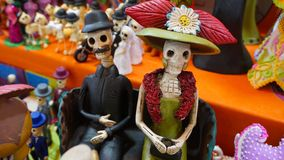 Paar van skeletten Stock Afbeeldingen