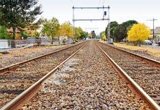 Paar van spoorweg Stock Foto