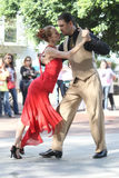 Paar van tangodansers 2 Royalty-vrije Stock Fotografie