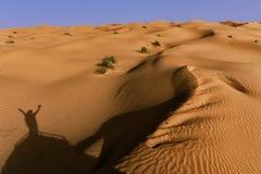 Paar van Toeristen in de woestijn van de Sahara, Tunesië royalty-vrije stock foto