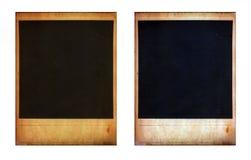 Paar van twee oude onmiddellijke fotokaders Stock Fotografie