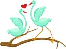 Paar van vogels Stock Afbeelding