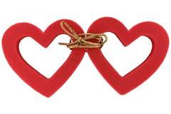 Paar verbonden harten Stock Foto's