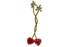 Paar verbonden harten Royalty-vrije Stock Afbeelding