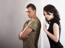 Paar-Verhältnisse - Konfliktkonzept lizenzfreies stockfoto