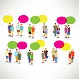 Paar-Versammlung und zusammen sprechen Lizenzfreie Stockfotografie
