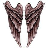 Paar vleugels stock illustratie