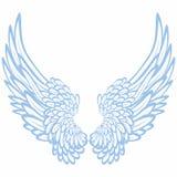 Paar vleugels vector illustratie
