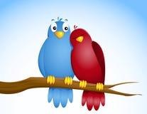 Paar vogels stock illustratie