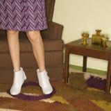 Paar vrouwelijke benen. Stock Fotografie