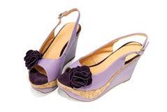 Paar vrouwelijke sandals Royalty-vrije Stock Foto