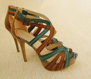 Paar vrouwelijke sandals, Stock Afbeelding