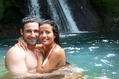 Paar in water Royalty-vrije Stock Foto