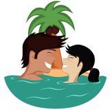 Paar in Water Royalty-vrije Stock Fotografie