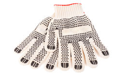 Paar werkende handschoenen Stock Afbeeldingen