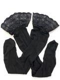Paar zwarte kousen Stock Foto's