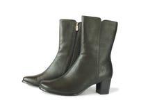 Paar zwarte laarzen Stock Afbeelding