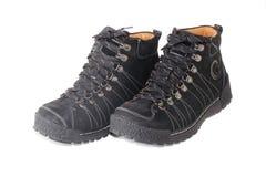 Paar zwarte schoenen Stock Foto's